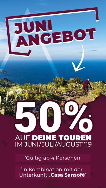 Juni Angebot Mountainbike Touren La Palma Sommer