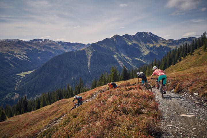 Trail-Spaß auf den Bergen rund um Saalbach