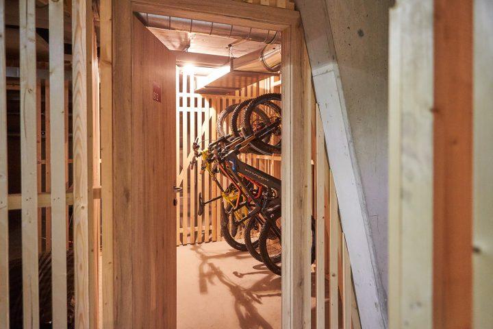 Private Abstellräume für Bikes