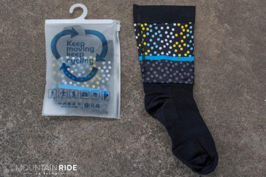 Darevie Road Lycra calcetines negro con lunares