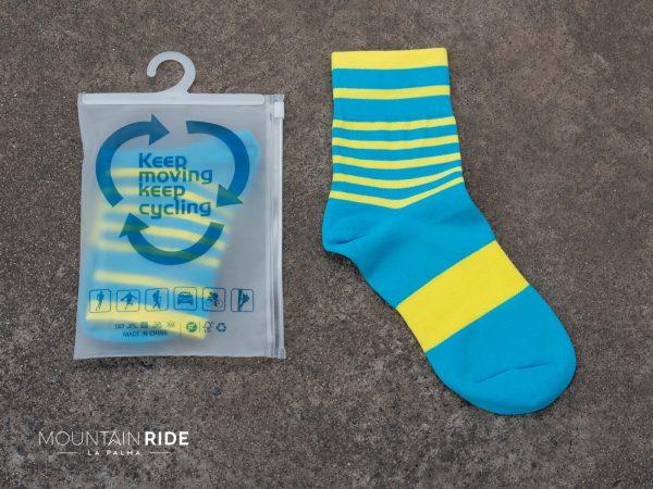 Darevie calcetines azul amarillo