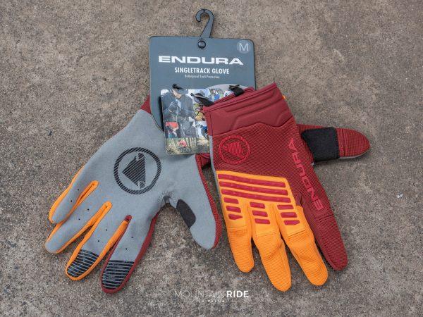 ENDURA SINGLETRACK guantes mandarina