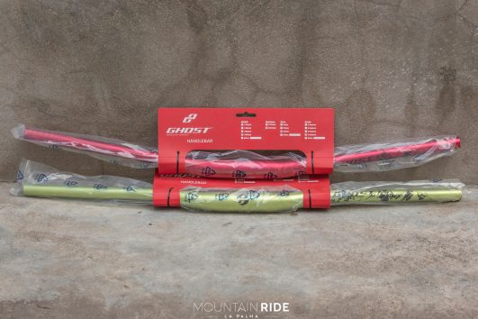 GHOST handlebar 780mm 35mm 15mm 9deg red yellow