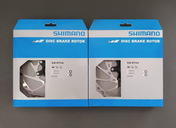 SHIMANO disco de freno sm rt 64 deore 180 203