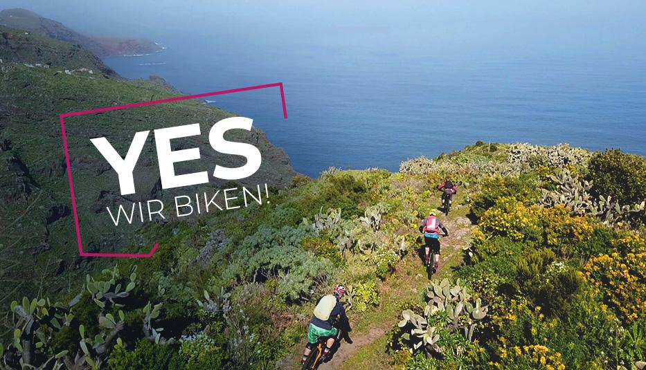 Yes! Wir biken: Geführte Mountainbike Touren auf La Palma